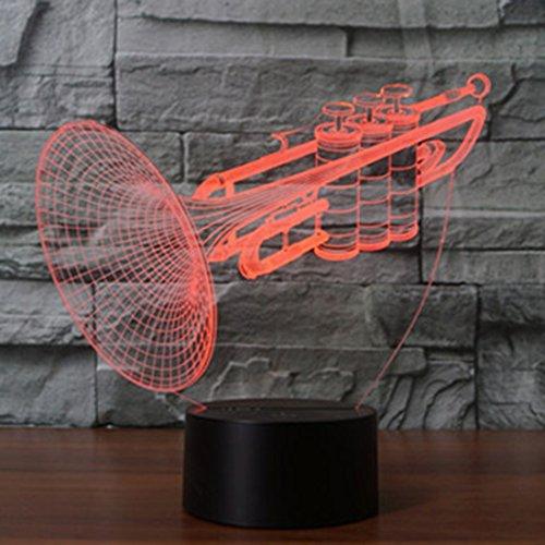Spécial Forme compacte 7 lumières stéréo de vision en couleurs couleur 3D tactile interrupteur commande LED lumière lampe de table lampe de nuit, DC 5V, Acrylique Accueil