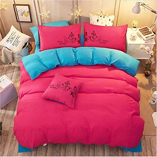 SHJIA Heimtextilien Bettwäsche-Sets Bettbezug für Erwachsene King Queen Size Bettbezug Kurze Bettwäsche Tröster C 220x240cm -