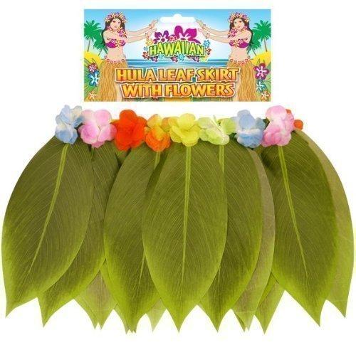 Damen Sexy Hawaiianisches Hula-Mädchen Gras Banane Blatt Rock Kostüm Kleid Outfit - Grün, Grün, STD (UK 8-14)