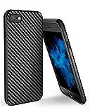Yokase iPhone 6 Hülle, iPhone 6s Hülle, Kohlefaser iPhone 6/6s Handyhülle Flexible Weiche Silikon TPU Stoßdämpfend Rutschfest iPhone 6 Hülle Silikon - 4.7 Zoll - Schwarz