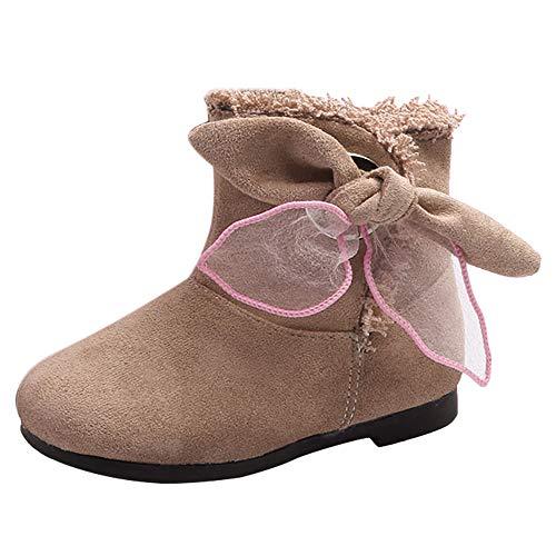 cinnamou Kinderschuhe Mädchen Schneestiefel Schnee Winter Stiefeletten Bogen warme Schuhe Flauschige Sneaker