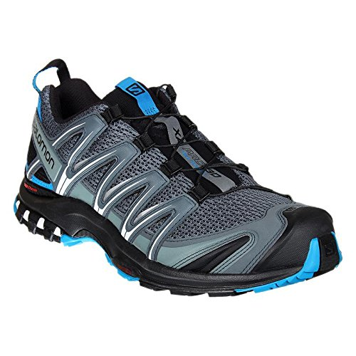 Salomon XA Pro 3D, Zapatillas de Trail Running para Hombre, Gris (Stormy Weather/Black/Hawaiian Surf), 45 1/3 EU
