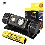 Nitecore HC65 Head Torch - USB Rechargeable 1000 Lumens - Triple Output/w Red Light [ 3400mAh Rechargeable Battery Included ]
