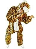Tiger-Kostüm, F14 Gr. M-L, Fasnachts-Kostüme Tier-Kostüme, Tiger-Faschingskostüm, für Fasching Karneval Fasnacht, Karnevals-Kostüme, Faschings-Kostüme, Geburtstags-Geschenk Erwachsene