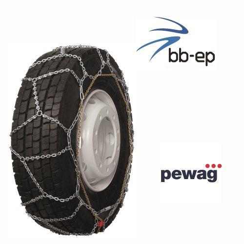 Pewag Omnimat Bague - bewährte Arceau de montage rapide à chaîne à neige spécialement conçu pour bus et facile de camion avec la pneus Taille 12.00 R20 - Certifié TÜV avec ö Norme V5119 - Si il aller vite.