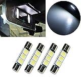 PA 4x LED 50503smd fusible ampoule Festoon dôme intérieur et un éclairage Intérieur de voiture Pare-soleil Miroir de courtoisie lumière 31mm
