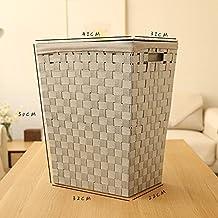 xmz cajas de almacenamiento de organizador de ropa con tabiques extraíbles los cofres (cofres de almacenaje (ratán de 41* 50cm