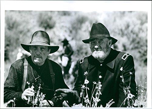 Vintage Foto Di Robert Duvall e Gene Hackman in un film 1993