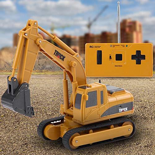 RC Baufahrzeug kaufen Baufahrzeug Bild 1: Dilwe Fernbedienung Bagger Spielzeug, Mini RC Engineering Truck Auto Baufahrzeug Spielzeug Geschenk für Kinder Kinder*
