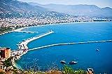 Alanya City Hill and Harbor Antalya Turkey Home Decor Art
