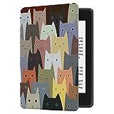 Huasiru Gemälde Hülle Schutzhülle Kindle Paperwhite (10. Generation, 2018 Veröffentlicht) Case Cover, Katzen