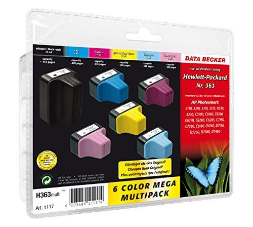 PrintMaxx Hewlett-Packard H363 Mulltipack komp Nr. 363 1x7 + 2x4 + 3x6 ml: Marken-Patronen für HP-Tintenstrahldrucker - jetzt im Multipack zum Sparpreis!