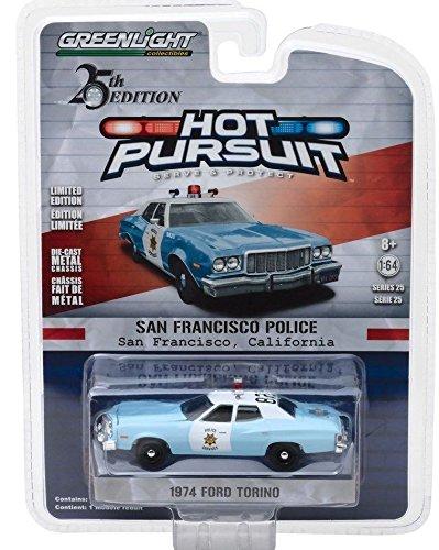 1974 Ford Torino San Francisco Police Dept. - Greenlight 1:64 (Ford Police 1 64)