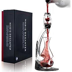 snaideal Essentiel Décanteur de vin Aérateur à vin Luxe avec Filtre et Socle Tour Coffret Cadeau