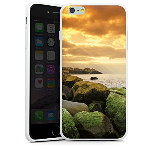 Apple iPhone X Silikon Hülle Case Schutzhülle Küste Landschaft Fels Silikon Case weiß
