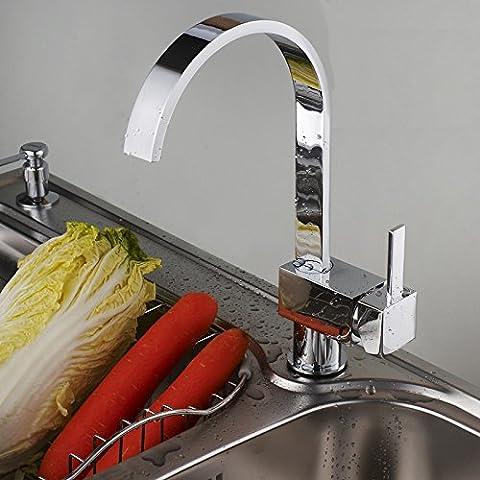 RRJH Grifo de fregadero de latón macizo fría pared universal grifo de fregadero cocina Grifo lavabo grifos