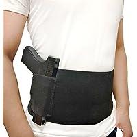 DecoDeco Belly Band Holster para Carry Oculto, con Revista Pocket Waist Band Handgun, Holder Elastic Hand para Pistolas Revólveres para Hombres y Mujeres Negro L