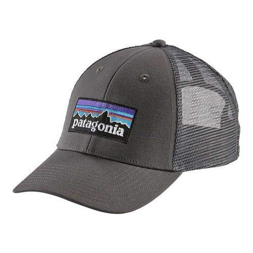 Patagonia P-6 Logo LoPro Trucker Hat Hat, w/Forge Grey, One Size Logo Trucker Cap