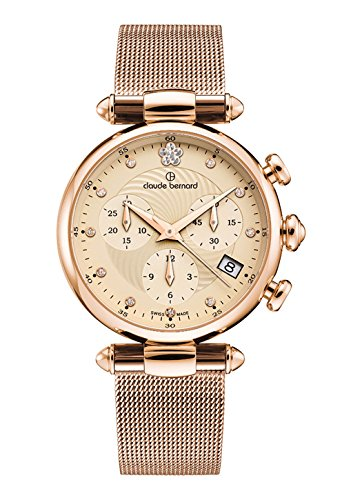 Claude Bernard Women's Quartz Watch with Silver Dress Code Chronograph Date Quartz 1021637R BEIR2
