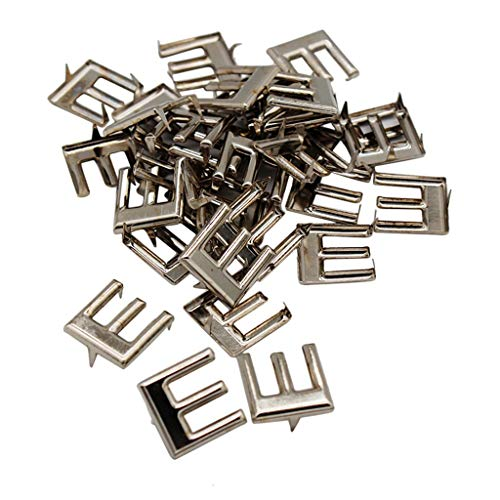 Rhinestone Stud Belt (Garment Rivets - 30 Pieces Metal Alphabet Studs Claw Rivet Leathercraft Punk Belt Decoration - Rivets Garment Garment Rivets Rivet Belt Stud Metal Leather With Studs Decor Brass Japan Skull Cl)