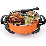 Hot Pot électrique Pot de canard mandarin Grande capacité Ménage Multifonctionnel Casserole anti-stick Bouilloire électrique Cuisinière électrique 2000W