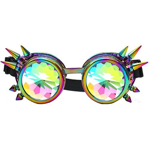 zaiqun Stift Steampunk winddicht Spiegel Vintage Gothic Brille Brillen, mehrfarbig