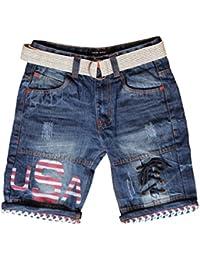 Krystle Boy's Cotton Stylish Denim Shorts
