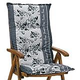 1 Auflage für Hochlehner Sun Garden Prato 30357-700 in grau geblümt ohne Stuhl