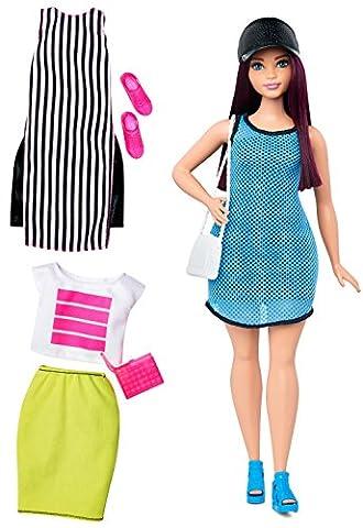 Mattel Barbie DTF01 Barbie Fashionistas Style Puppe und Moden im