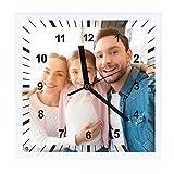 Kembilove Reloj de Pared Personalizado con Foto - Reloj con Foto Personalizado con Nombre - Regalo Original Cumpleaños, Padre, Madres, Parejas, Familiares