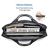 "Inateck Man Shoulder Bag, Water-resistant Laptop Bag with Metal Handle, Compartments, Luggage Tag, PU Leather Protective Briefcase Handbag for 15"" 2016/ 2017 MacBook Pro, Tablets and Laptops"