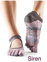 Toesox - Calcetines para yoga de mujer con el empeine al descubierto., Siren, medium