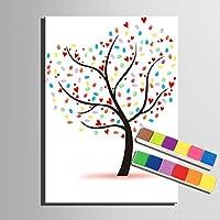 Personalizzato delle impronte digitali stampe su tela pittura - Love Tree (include 12 colori di inchiostro) , blank ,