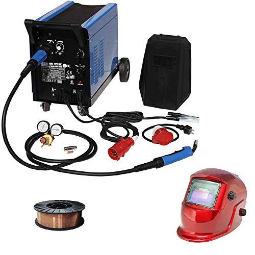 Güde Schutzgas Schweißgerät Mig 192/6K + 5 kg Schweißdrahtrolle & WD Tools Schweißhelm