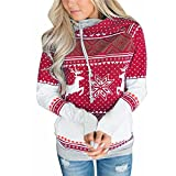 FStory Frauen Pulli Pullover Sweatshirt Rollkragen Kontrastfarbe Damen Hoodies Frauen Kapuzenpulli