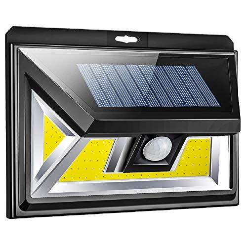 Solarleuchte für Außen,Solarbetriebene Bewegungs Sensor Leuchten von 3-Seiten mit Weitwinkelbeleuchtung,76 LED COB Solarlampen Wandleuchten für Garten Terrasse Hof Veranda Weg Garage