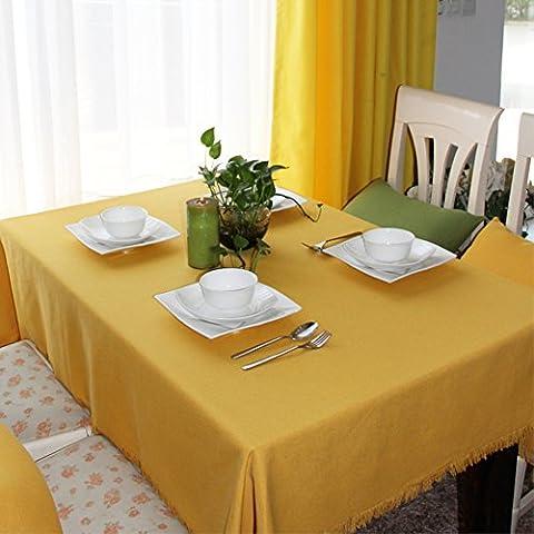 Yellow Table Cloth,European-style Pastoral Tea Lounge Bar Tablecloth-A 140x200cm(55x79inch)