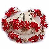 KUNQ-Une Coiffure Red Immortel Fleur Fleur Coiffure Coiffure Sec Coiffure Accessoires Mariage