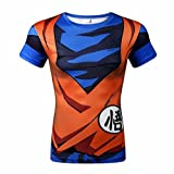CHENMA Herren Dragon Ball 3D Druck Stretchy Schnell trocknendes Trainings Sport T-Shirt