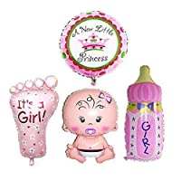 Warehouseshop WSS - Baby Toddler Boy Girl Huge Foil Helium Balloons New Baby Shower Christening Birthday Party Decorations (Pink - Girl)