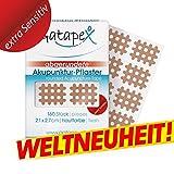 Gatapex Weltneuheit Gitter Akupunktur-Pflaster (Größe S) mit abgerundeten Ecken Hautfarbe