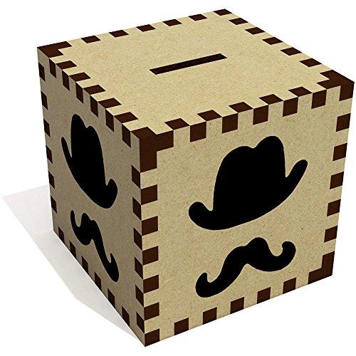 Azeeda 'Sombrero Bigote' Caja Dinero / Hucha MB00057639