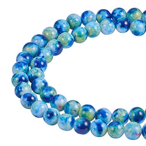 nbeads/Strang 6mm 1Strang 66pcs mit natürlichen Edelstein Jade-Perlen-Halskette,