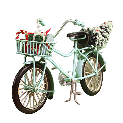 D DOLITY 1:10 Miniatur Legierung Fahrrad Modell Puppenhausmöbel Puppenstube Garten Deko - 1 Stück - Blau