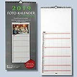 Familienplaner Bastelkalender 2019 für Fotos bis 13x18 zum selbst gestalten - Fotokalender Foto Hobbykalender Kreativ Kalender Foto-Kalender zum selber basteln mit Platz für wichtige Tage für die ganze Familie Familienkalender 2017