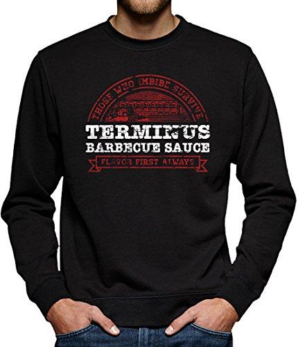 TLM Terminus Barbecue Sauce Sweatshirt Pullover Herren M Schwarz