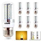 Elinkume 6X E27 8W LED lampe Leuchtmittel Birne Warmweiss 2800-3200K 360º Abstrahlwinkel Ø31X93.5mm Energiespar Licht