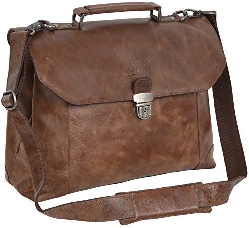 Gusti pelle studio ''phil'' borsa in cuoio a tracolla uomo donna unisex tempo libero università scuola lavoro passeggio cuoio marrone 2b14-20-1