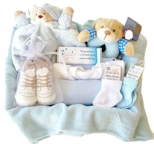 New Arrivals Hamper: Baby Boy Gift Wrapped