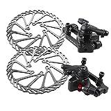 Edelstahl-Fahrrad-Scheibenbremsen Set Kit Bike Rotor F: 180 / R: 160 Vorderrad Bremse F: 160 R: 140 mit Clipers Hinterradbremse